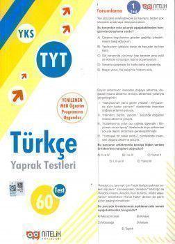 Nitelik Yayınları TYT Türkçe Yaprak Test