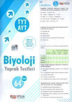 Nitelik Yayınları TYT AYT Biyoloji Yaprak Test