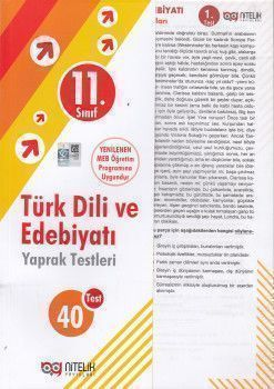 Nitelik Yayınları 11. Sınıf Türk Dili ve Edebiyatı 40 Yaprak Test