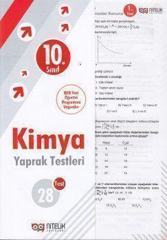 Nitelik Yayınları 10. Sınıf Kimya 28 Yaprak Test