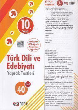 Nitelik Yayınları 10. Sınıf Türk Dili ve Edebiyatı 40 Yaprak Test