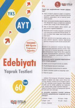 Nitelik Yayınları AYT Sınıf Edebiyat 60 Yaprak Test