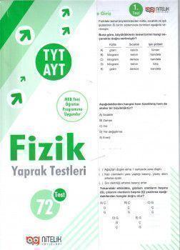 Nitelik Yayınları TYT AYT Fizik Yaprak Testleri