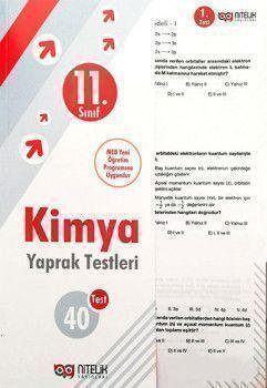 Nitelik Yayınları 11. Sınıf Kimya Yaprak Testleri