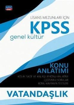 Nobel Sınav Yayınları KPSS Lisans Vatandaşlık Genel Kültür Konu Anlatımı