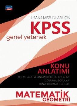 Nobel Sınav Yayınları KPSS Lisans Matematik Geometri Genel Yetenek Konu Anlatımı