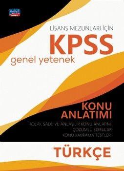 Nobel Sınav Yayınları KPSS Lisans Türkçe Genel Yetenek Konu Anlatımı