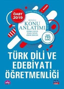 Nobel Sınav Yayınları 2019 ÖABT Türk Dili ve Edebiyatı Öğretmenliği Alan Bilgisi Detaylı Konu Anlatımı