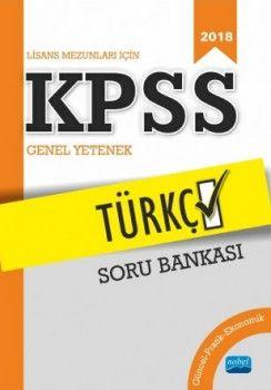 Nobel Yayınları 2018 KPSS Türkçe Soru Bankası