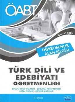 Nobel Yayınları ÖABT Türk Dili ve Edebiyatı Öğretmenlik Alan Bilgisi