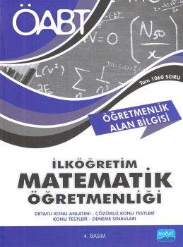 Nobel Yayınları ÖABT İlköğretim Matematik Öğretmenliği Öğretmenlik Alan Bilgisi