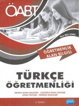 Nobel Yayınları ÖABT Türkçe Öğretmenliği Öğretmenlik Alan Bilgisi