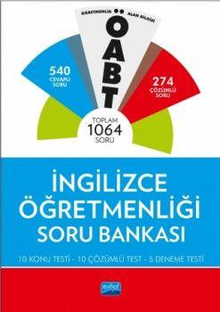 Nobel Yayınları ÖABT İngilizce Öğretmenliği Soru Bankası