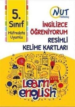 Nut Publishing 5. Sınıf İngilizce Öğreniyorum Resimli Kelime Kartları