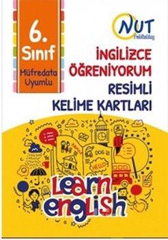 Nut Publishing 6. Sınıf İngilizce Öğreniyorum Resimli Kelime Kartları