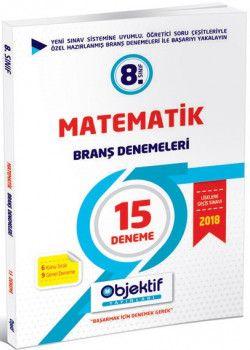 Objektif Yayınları 8. Sınıf Matematik 15 li Branş Denemeleri