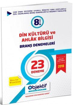 Objektif Yayınları 8. Sınıf Din Kültürü ve Ahlak Bilgisi 23 lü Branş Denemeleri