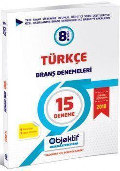 Objektif Yayınları 8. Sınıf Türkçe 15 li Branş Denemeleri