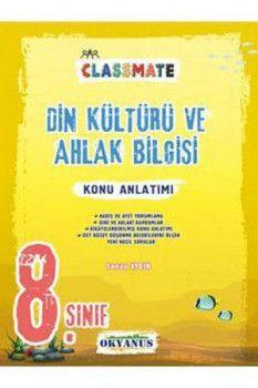 Okyanus Yayınları 8. Sınıf Classmate Din Kültürü ve Ahlak Bilgisi Konu Anlatımlı