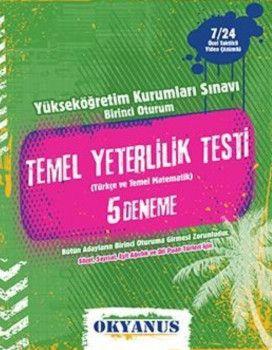 Okyanus Yayınları YKS 1. Oturum TYT Türkçe Matematik Çözümlü 5 Deneme