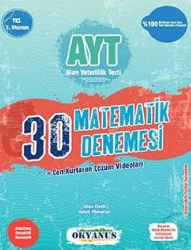 Okyanus Yayınları YKS 2. Oturum AYT Matematik 30 Deneme