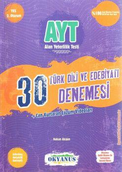 Okyanus Yayınları YKS 2. Oturum AYT Türk Dili ve Edebiyatı 30 Deneme