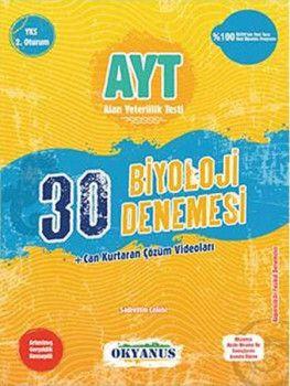 Okyanus Yayınları YKS 2. Oturum AYT Biyoloji 30 Denemesi