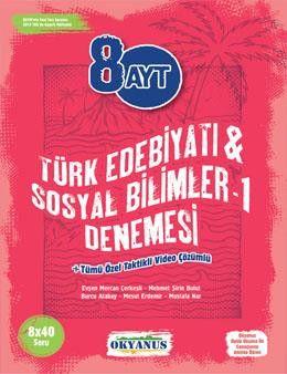 Okyanus Yayınları AYT Türk Edebiyatı Sosyal Bilimler 1 8li Deneme