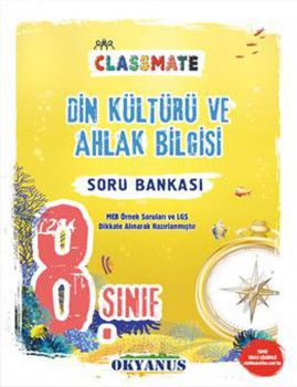 Okyanus Yayınları 8. Sınıf Din Kültürü ve Ahlak Bilgisi Classmate Soru Bankası