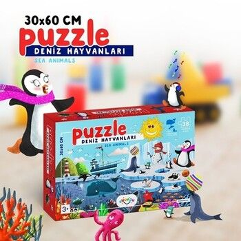 Oyunzu PuzzleDeniz Hayvanları 36 Parça Puzzle