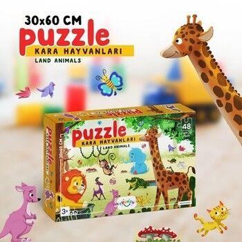 Oyunzu PuzzleKara Hayvanları Puzzle Oyunzu 48 Parça