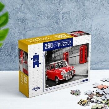 Oyunzu PuzzleKırmızı Siyah Red Black 260 Parça Puzzle