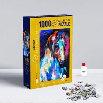 Oyunzu PuzzleRenkli At 1000 Parça Puzzle