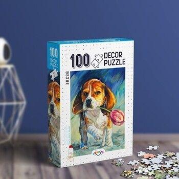 Oyunzu PuzzleSevimli Köpek Decor 100 Parça Puzzle