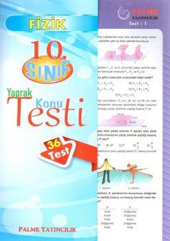 Palme Yayınları 10. Sınıf Fizik Yaprak Konu Testi