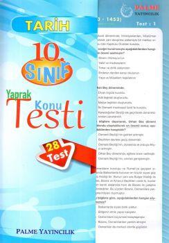 Palme Yayınları 10. Sınıf Tarih Konu Testi