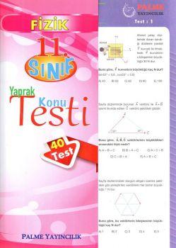 Palme Yayınları 11. Sınıf Fizik Yaprak Konu Testi