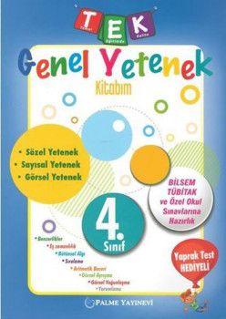 Palme Yayınları 4. Sınıf TEK Genel Yetenek Kitabım