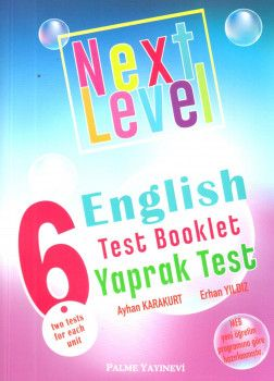 Palme Yayınları 6. Sınıf Next Level English Test Booklet Yaprak Test