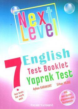 Palme Yayınları 7. Sınıf Next Level English Test Booklet Yaprak Test