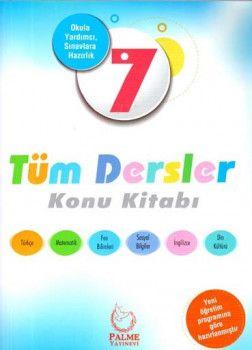 Palme Yayınları 7. Sınıf Tüm Dersler Konu Kitabı
