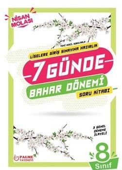 Palme Yayınları 8. Sınıf LGS 7 Günde Bahar Dönemi Soru Kitabı