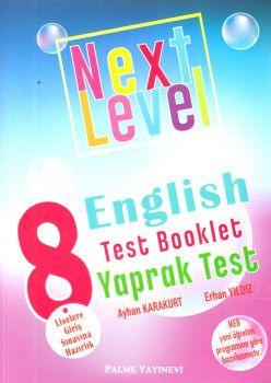Palme Yayınları 8. Sınıf Next Level English Test Booklet Yaprak Test