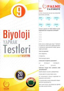Palme Yayınları 9. Sınıf Biyoloji Yaprak Test