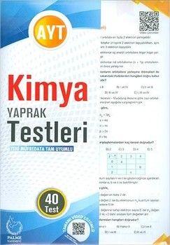 Palme Yayınları AYT Kimya 40 lı Yaprak Testleri