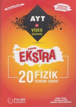 Palme Yayınları AYT Fizik Evde Ekstra 20 Deneme Sınavı