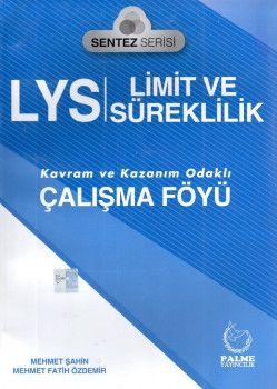 Palme Yayınları LYS Limit ve Süreklilik Kavram ve Kazanım Odaklı Çalışma Föyü Sentez Serisi