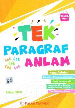 Palme Yayınları Ortaokul Düzeyi TEK Paragraf Anlam Konu Anlatımı