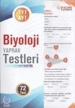 Palme Yayınları TYT AYT Biyoloji Yaprak Testleri