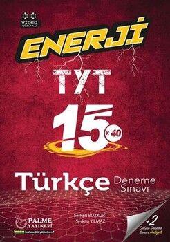 Palme Yayınları TYT Türkçe Enerji 15 Deneme Sınavı